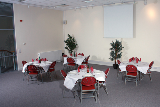 The Kairos Centre meeting Room set up for catering