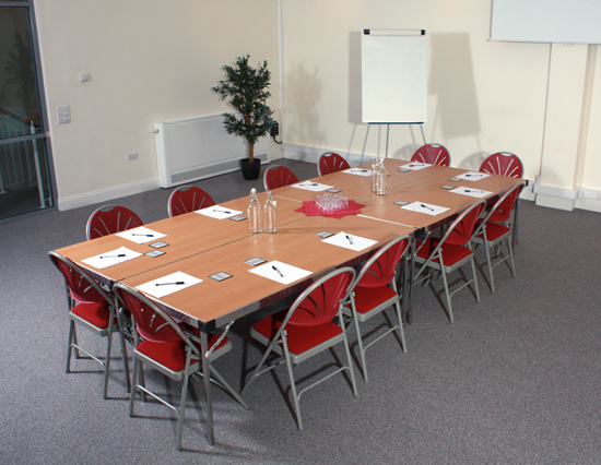 Kairos Meeting Room set up for a business meeting or breakfast club
